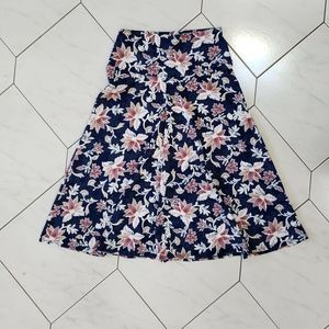 Ashley Blue Floral Skirt Size Small